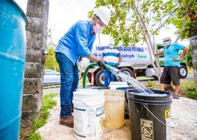 Donacion de Agua de Heineken Panama en medio de la Pandemia